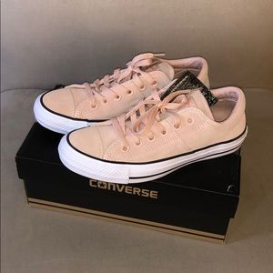 Dusty pink suede converse